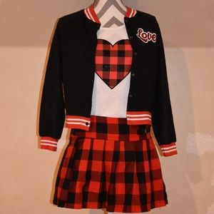 """Justice Girls """"Love"""" 3 Piece Outfit"""